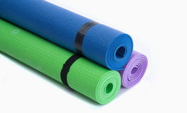 Colorful Fitness Mats Stock Photo