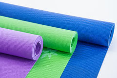 Colorful Fitness Mats Stock Photography