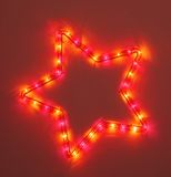 Colorful five-pointed star Royalty Free Stock Photography