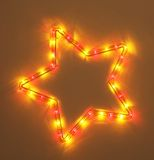 Colorful five-pointed star