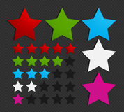Colorful five star set Stock Image