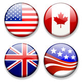Colorful flag badges icons vector Royalty Free Stock Photo
