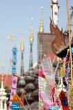 Colorful flag call tung hang on sand pagoda. Northern thailand chiangmai colorful flag call tung hang on sand pagoda Royalty Free Stock Image