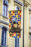 Colorful flag for the carnival in Rijeka Royalty Free Stock Images