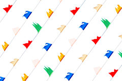 Colorful flag of celebrities symbol. Colorful flick flag on white background, celebrities symbol Stock Photos