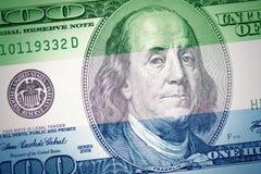 Flag of sierra leone on a american dollar money background stock photos