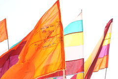 Colorful Flag in the temple Royalty Free Stock Images