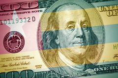 Flag of togo on a american dollar money background royalty free stock photography