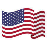 colorful flag the united states Royalty Free Stock Photography