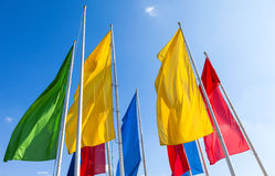 Free Colorful Flags Royalty Free Stock Photos - 44637488