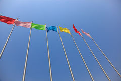 Colorful flags Royalty Free Stock Images