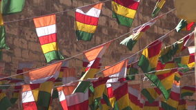 Colorful flags and wind in Jodphur Meherangarh fort , India Stock Images