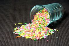 Colorful flake topping. Stock Photography