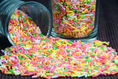 Colorful flake topping. Stock Photo
