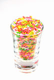 Colorful flake topping isolated on white background. Royalty Free Stock Photos