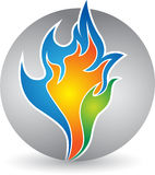 Colorful flame logo Royalty Free Stock Photography
