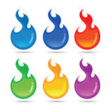Colorful flame orb Royalty Free Stock Photography