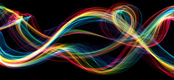 Colorful flame waves abstract background Stock Photography