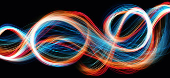 Colorful flame waves abstract background Royalty Free Stock Images