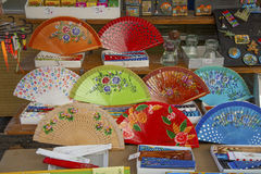 Colorful Flamenco fans Stock Photo
