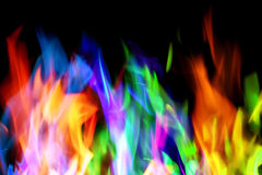 Colorful flames Stock Image