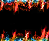 Colorful Flames Royalty Free Stock Photo