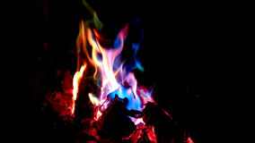 Colorful flames. Royalty Free Stock Photo