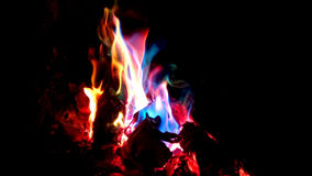 Colorful flames. Royalty Free Stock Photos