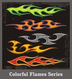 Colorful Flames Series. Colorful flames, great for vehicle graphics, T-shirt decals and stickers Stock Photography