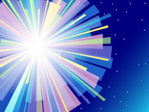 Colorful flash vector background. Stock Photos