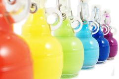 Colorful flasks Royalty Free Stock Photos