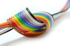 Colorful flat cable Royalty Free Stock Photos