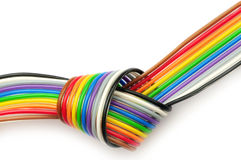 Colorful flat cable Stock Image