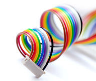 Colorful flat cable Royalty Free Stock Photo