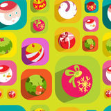 Colorful flat christmas seamless background Stock Images