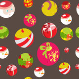 Colorful flat christmas seamless background Stock Photo