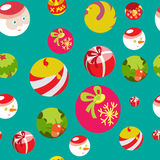 Colorful flat christmas seamless background Stock Photography