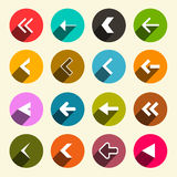 Colorful Flat Design Simple Vector Arrows Set Royalty Free Stock Photo