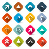 Colorful Flat Design Vector Arrows Set Royalty Free Stock Photography