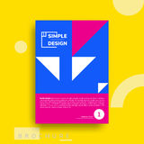 Colorful flat geometric covers design Stock Photos
