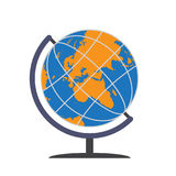 Colorful flat globe isolated Royalty Free Stock Photo