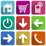 Colorful flat icon set Royalty Free Stock Photo