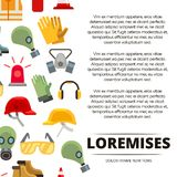 Colorful flat personal protective equipment icons poster design. Vector illustration Royalty Free Stock Photos