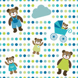Colorful flat repeat wall paper polka dot with bea Stock Photos