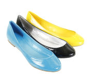 Colorful flat shoes Royalty Free Stock Images