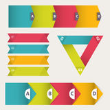 Colorful Flat Step by Step Infographics. Colorful set template. vector illustration. Colorful Flat Step by Step Infographics. Colorful set template, Vector flat Stock Photo