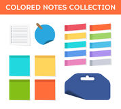 Colorful flat stickers Royalty Free Stock Photography