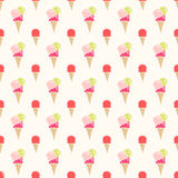 Colorful flat style ice cream Stock Images