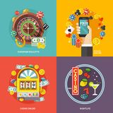 Colorful flat vector concept composition stock illustration