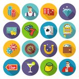 Colorful flat vector illustration.  Gambling Stock Images